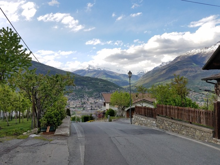 a view from Charvensod, Aosta Valley